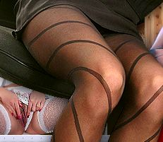 Pantyhose, stockings, bodystockings: all kinds of smooth & sexy nylon lingerie!